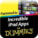 My Writing Spot was featured in the book Incredible iPad Apps for Dummies